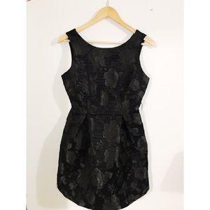 Stunning Black Dress with Rose Detail